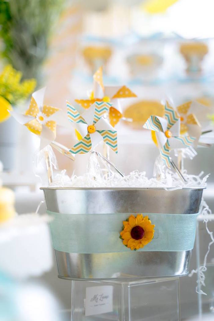 Paper Windmills from a You are my Sunshine 100 Days Party on Kara's Party Ideas | KarasPartyIdeas.com (17)