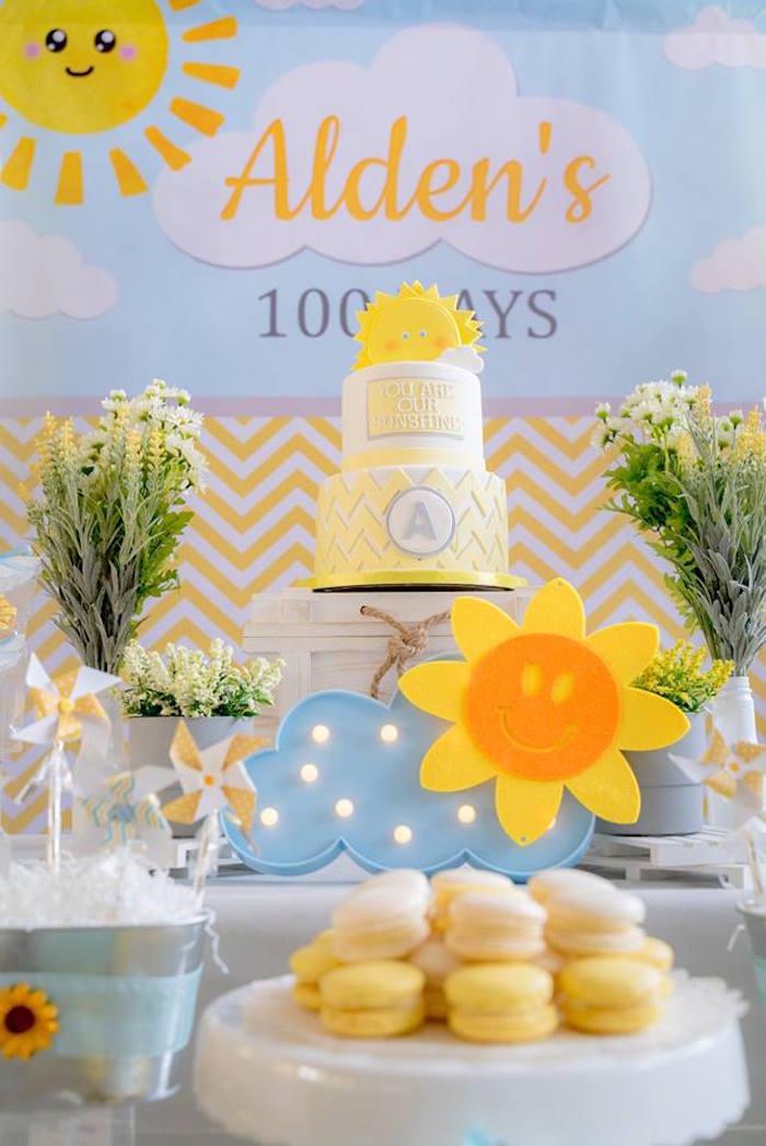 You are my Sunshine 100 Days Party Table on Kara's Party Ideas | KarasPartyIdeas.com (12)
