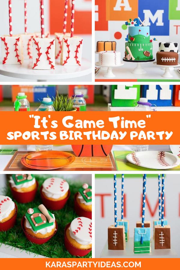 """It's Game Time"" Sports Birthday Party via Kara's Party Ideas - KarasPartyIdeas.com"