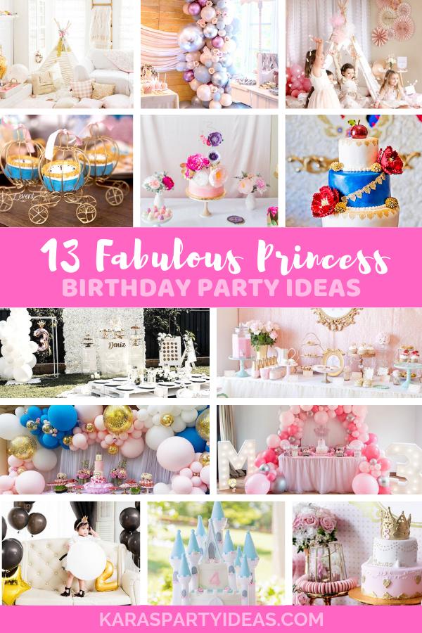 13 Fabulous Princess Birthday Party Ideas via Kara's Party Ideas - KarasPartyIdeas.com