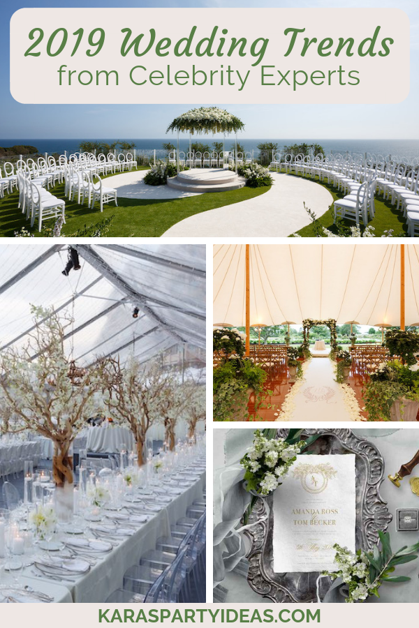 2019 Wedding Trends from Celebrity Experts via Kara's Party Ideas - KarasPartyIdeas.com