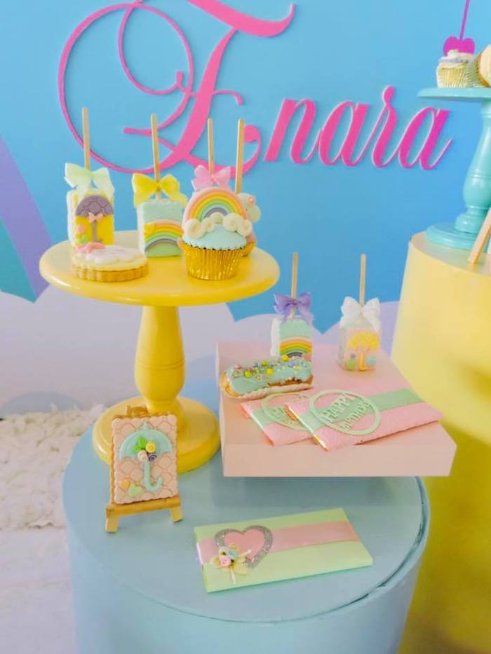 "Rain-inspired Sweets from a ""Chuva de Amor"" Rain Love Birthday Party on Kara's Party Ideas | KarasPartyIdeas.com (14)"
