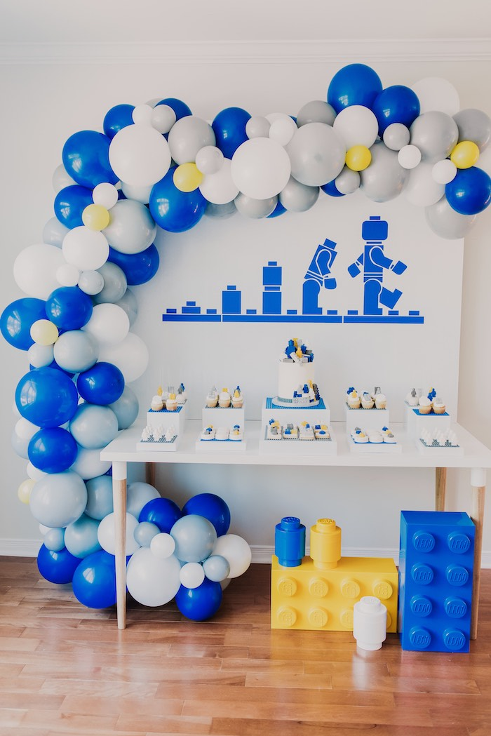 Blue & Yellow Modern Lego Birthday Party on Kara's Party Ideas | KarasPartyIdeas.com (36)