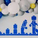 Blue & Yellow Modern Lego Birthday Party on Kara's Party Ideas | KarasPartyIdeas.com (4)