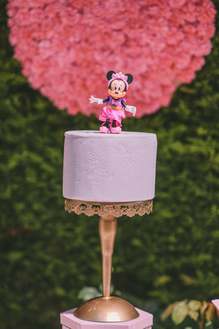 Mini Minnie Mouse Cake from a Boutique Minnie Mouse Birthday Party on Kara's Party Ideas | KarasPartyIdeas.com (14)