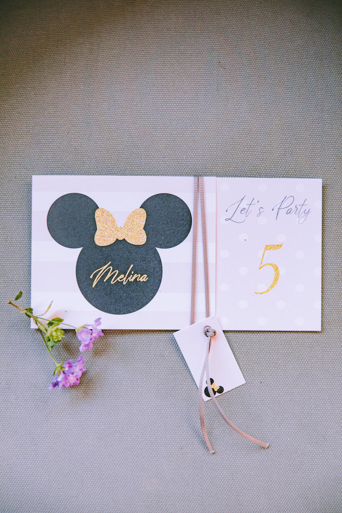 Minnie Mouse Party Signage from a Boutique Minnie Mouse Birthday Party on Kara's Party Ideas | KarasPartyIdeas.com (10)