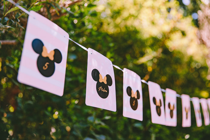 Minnie Mouse Banner from a Boutique Minnie Mouse Birthday Party on Kara's Party Ideas | KarasPartyIdeas.com (21)