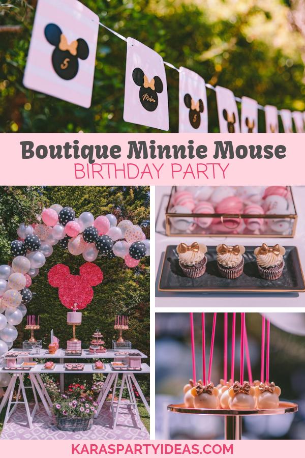 Boutique Minnie Mouse Birthday Party via Kara's Party Ideas - KarasPartyIdeas.com