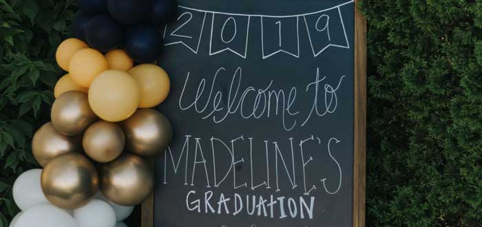 Chic Backyard Graduation Party on Kara's Party Ideas | KarasPartyIdeas.com (6)