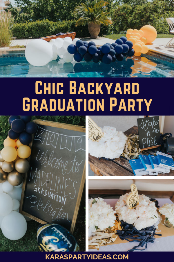 Kara's Party Ideas Chic Backyard Graduation Party | Kara's ...