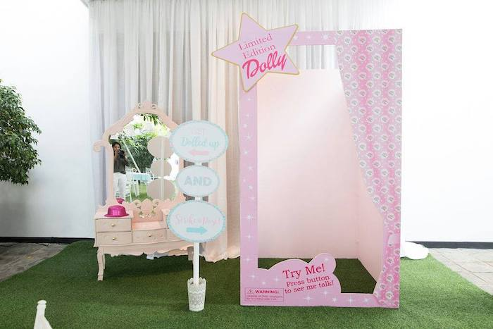 Life Size Doll House Photo Box from a Doll House Birthday Party + Cake on Kara's Party Ideas | KarasPartyIdeas.com (21)