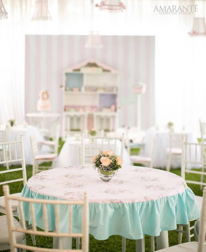Guest Table from a Doll House Birthday Party + Cake on Kara's Party Ideas | KarasPartyIdeas.com (19)