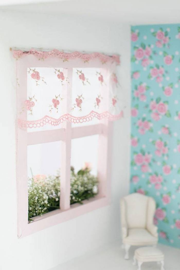 Doll House House Window from a Doll House Birthday Party + Cake on Kara's Party Ideas | KarasPartyIdeas.com (13)