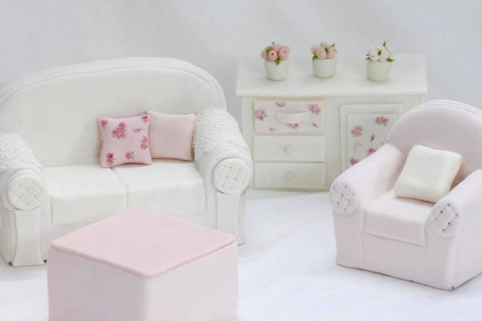 Edible Doll House Sitting Room from a Doll House Birthday Party + Cake on Kara's Party Ideas | KarasPartyIdeas.com (10)