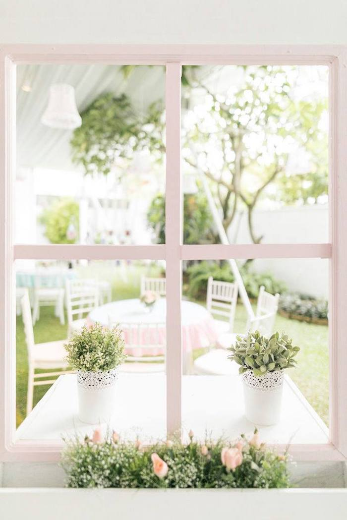 Doll House Window from a Doll House Birthday Party + Cake on Kara's Party Ideas | KarasPartyIdeas.com (7)