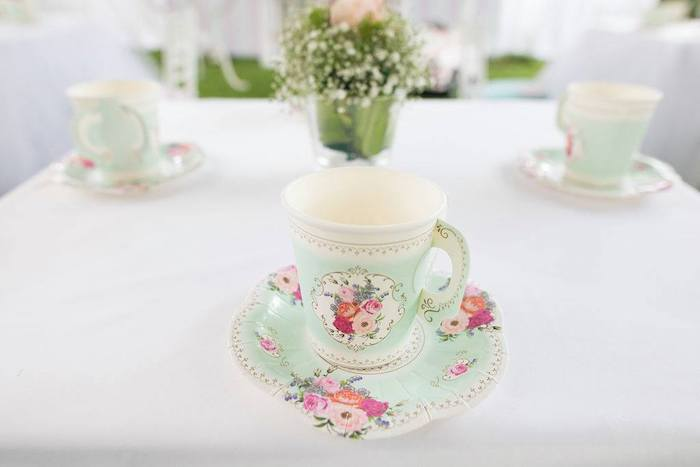 Paper Tea Cup & Saucer from a Doll House Birthday Party + Cake on Kara's Party Ideas | KarasPartyIdeas.com (29)