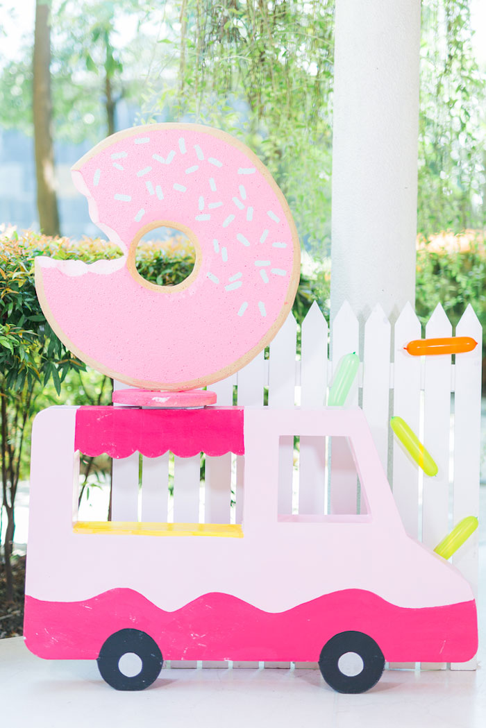 Donut Truck from a Donut-Land Birthday Party on Kara's Party Ideas | KarasPartyIdeas.com (23)