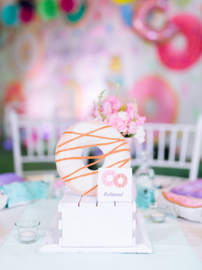 Donut-inspired Table Centerpiece from a Donut-Land Birthday Party on Kara's Party Ideas | KarasPartyIdeas.com (21)