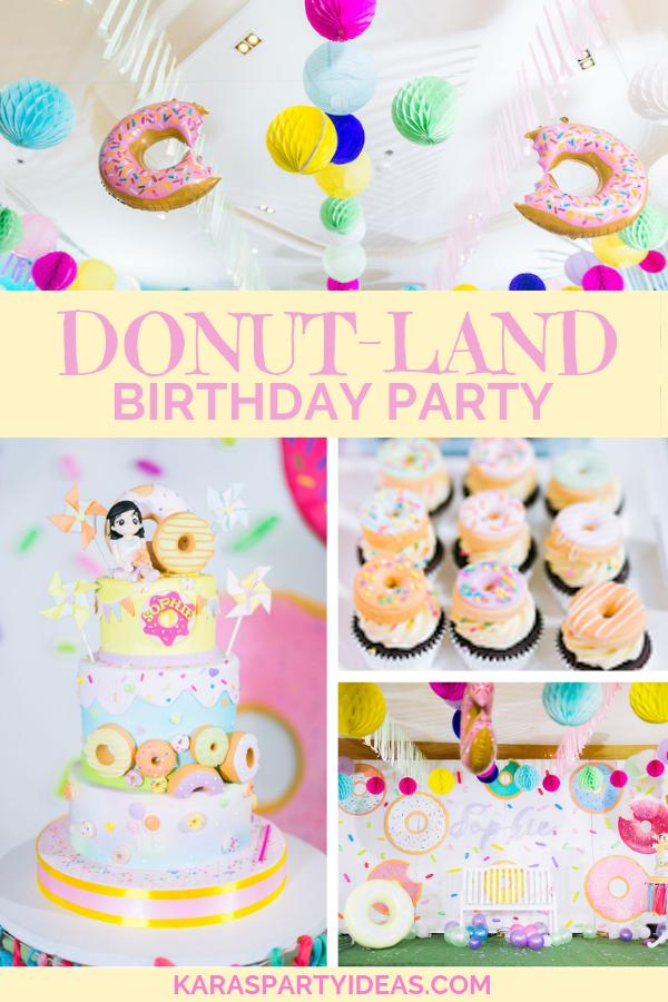 Donut-Land Birthday Party via Kara's Party Ideas - KarasPartyIdeas.com