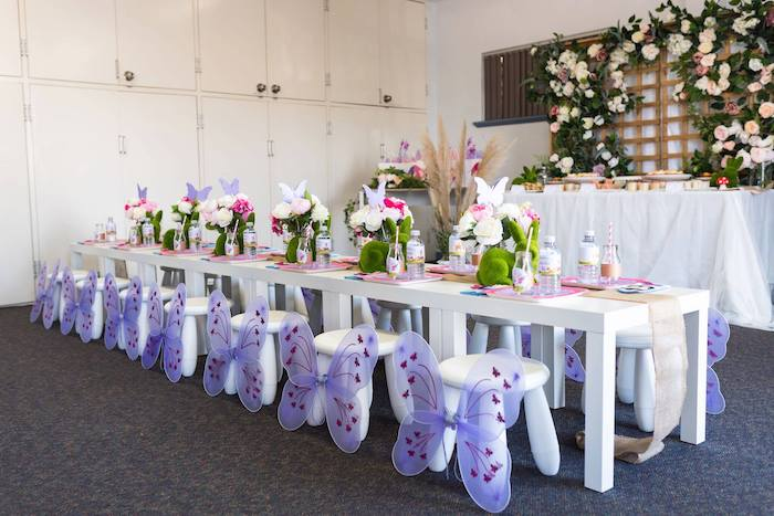 Enchanted Fairy Garden Guest Table from an Enchanted Fairy Garden Birthday Party on Kara's Party Ideas | KarasPartyIdeas.com (16)