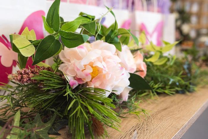 Garden Garland + Greenery from an Enchanted Fairy Garden Birthday Party on Kara's Party Ideas | KarasPartyIdeas.com (8)