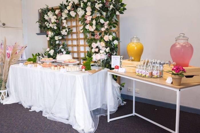 Garden Party Tables from an Enchanted Fairy Garden Birthday Party on Kara's Party Ideas | KarasPartyIdeas.com (7)