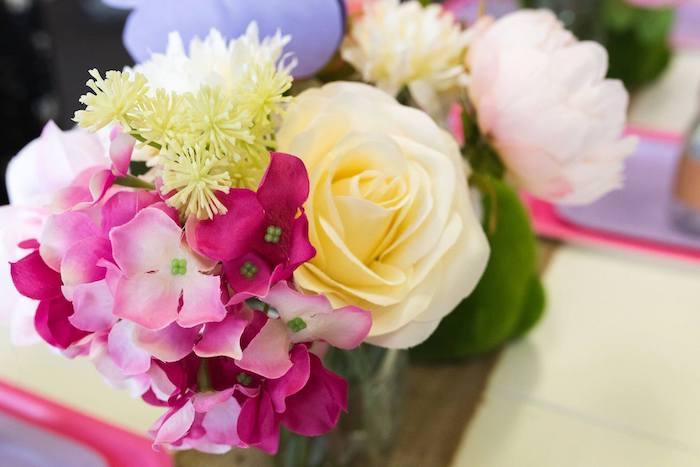 Garden Blooms from an Enchanted Fairy Garden Birthday Party on Kara's Party Ideas | KarasPartyIdeas.com (25)