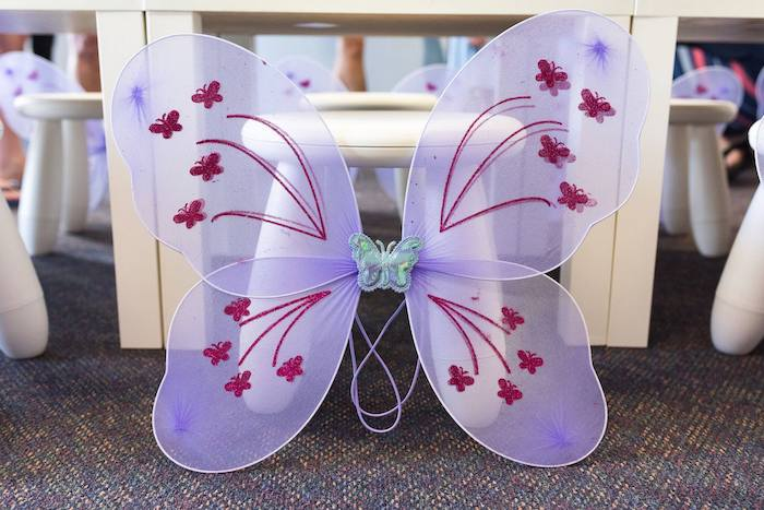 Butterfly Wings from an Enchanted Fairy Garden Birthday Party on Kara's Party Ideas | KarasPartyIdeas.com (19)