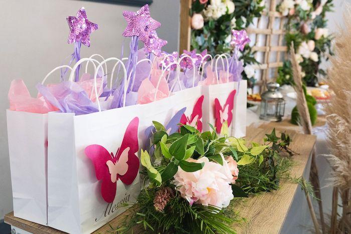 Fairy Garden Gift Bags from an Enchanted Fairy Garden Birthday Party on Kara's Party Ideas | KarasPartyIdeas.com (18)