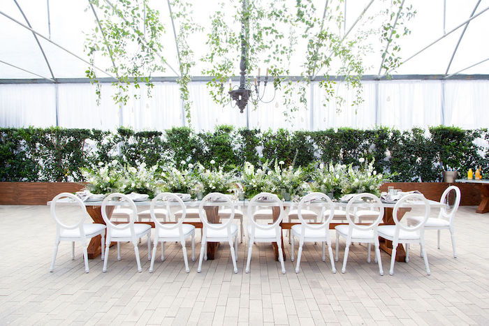 Greenhouse Guest Table from an Ethereal Greenhouse Baby Shower on Kara's Party Ideas | KarasPartyIdeas.com (33)