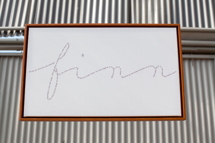 Personalized Name Sign from an Ethereal Greenhouse Baby Shower on Kara's Party Ideas | KarasPartyIdeas.com (28)