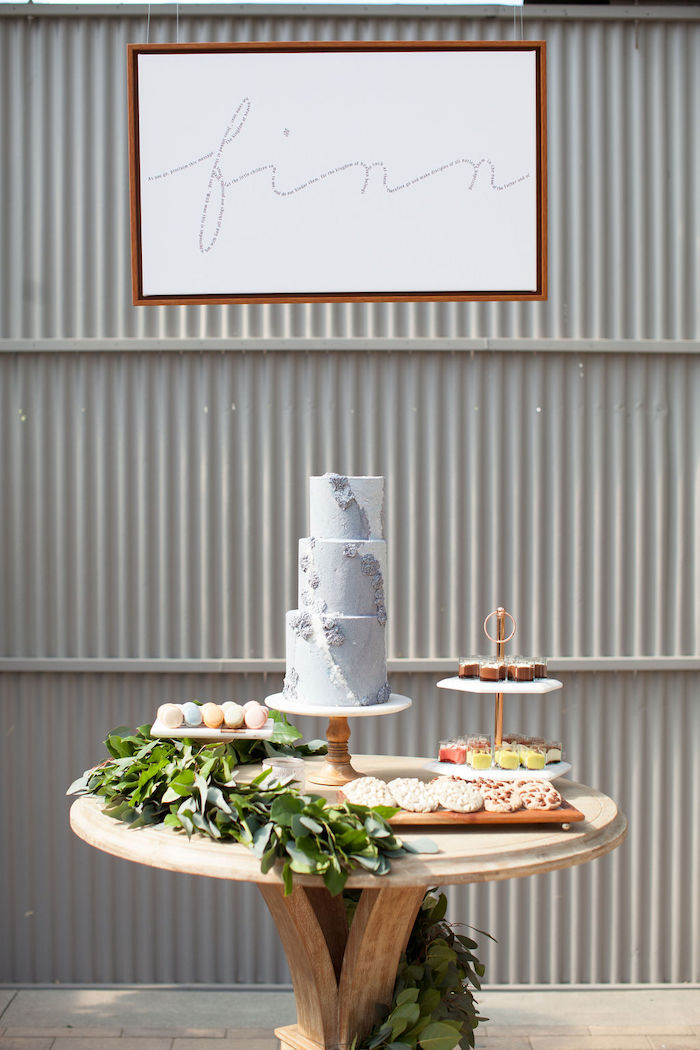 Garden Cake + Sweet Table from an Ethereal Greenhouse Baby Shower on Kara's Party Ideas | KarasPartyIdeas.com (16)
