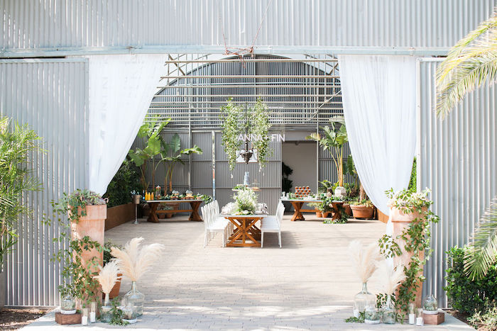 Greenhouse Party Entrance from an Ethereal Greenhouse Baby Shower on Kara's Party Ideas | KarasPartyIdeas.com (9)