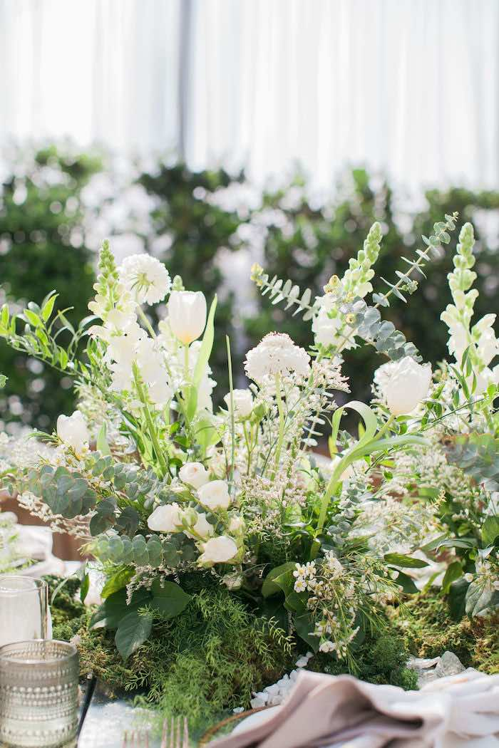 Garden Bloom Centerpieces from an Ethereal Greenhouse Baby Shower on Kara's Party Ideas | KarasPartyIdeas.com (36)