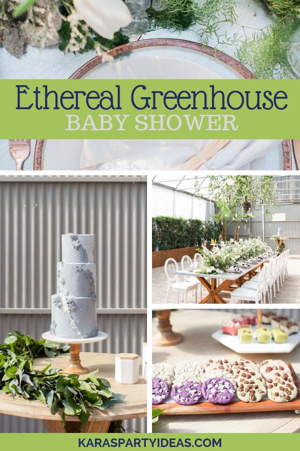 Ethereal Greenhouse Baby Shower via KarasPartyIdeas - KarasPartyIdeas.com
