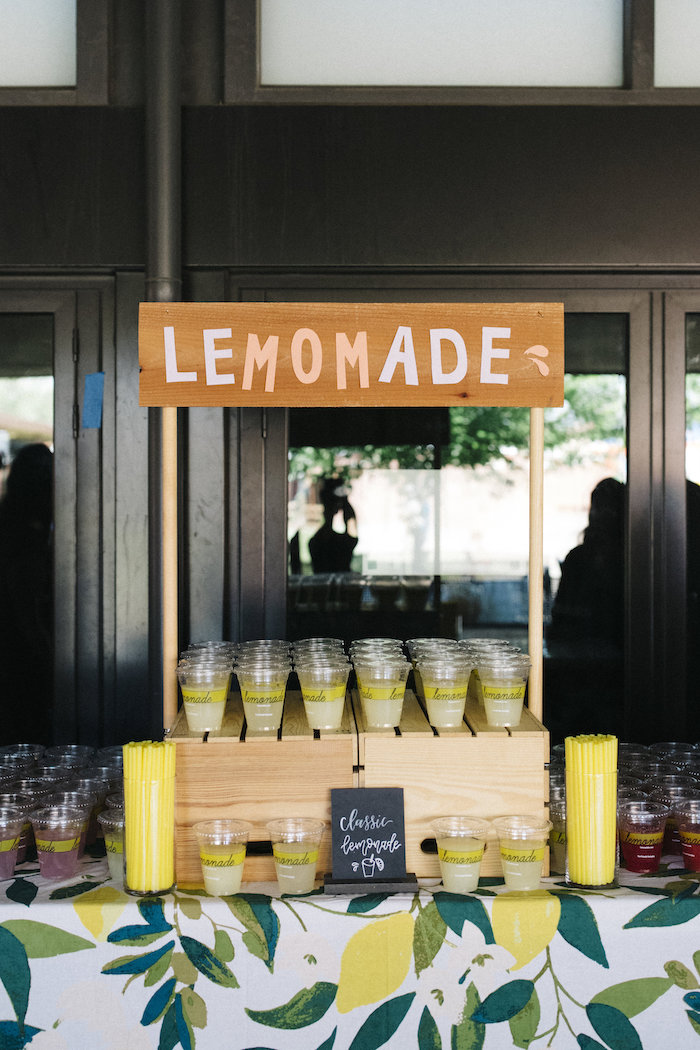 Lemonade Stand from a Farmer's Market Mother's Day Event on Kara's Party Ideas | KarasPartyIdeas.com (22)