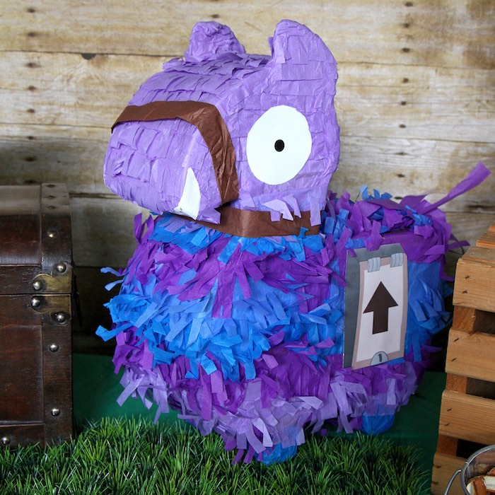 Fortnite Loot Llama Pinata from a Fortnite Birthday Party on Kara's Party Ideas | KarasPartyIdeas.com (12)