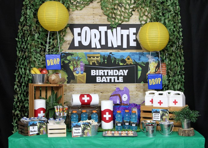 Fortnite Birthday Party on Kara's Party Ideas | KarasPartyIdeas.com (4)