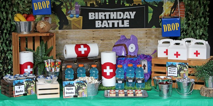 Fortnite Birthday Battle Dessert Table from a Fortnite Birthday Party on Kara's Party Ideas | KarasPartyIdeas.com (22)