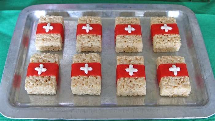 Medic Rice Krispie Treats from a Fortnite Birthday Party on Kara's Party Ideas | KarasPartyIdeas.com (20)