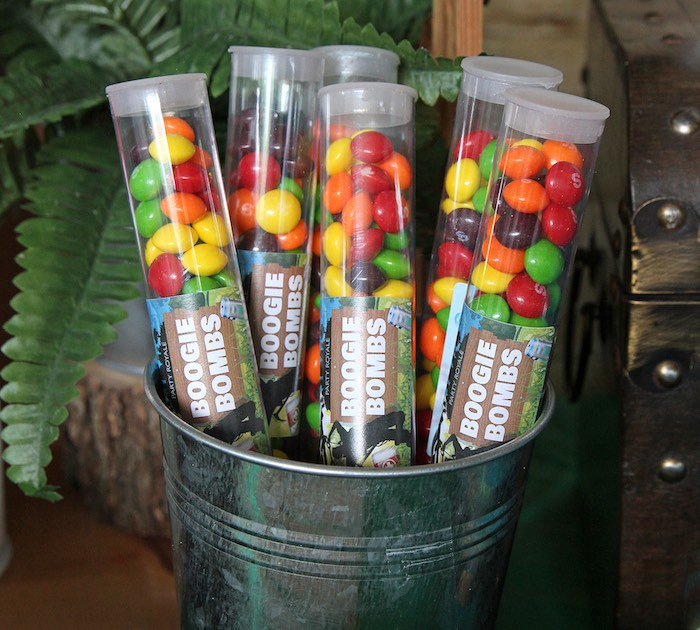 Boogie Bombs - Skittle Candy Favor Tubes from a Fortnite Birthday Party on Kara's Party Ideas | KarasPartyIdeas.com (18)
