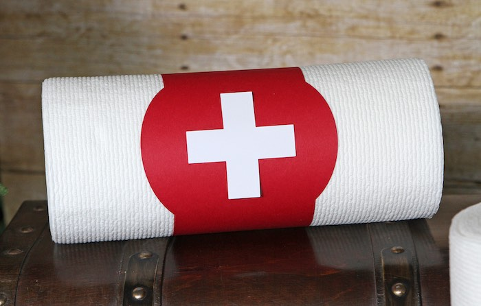Medical Roll from a Fortnite Birthday Party on Kara's Party Ideas | KarasPartyIdeas.com (14)