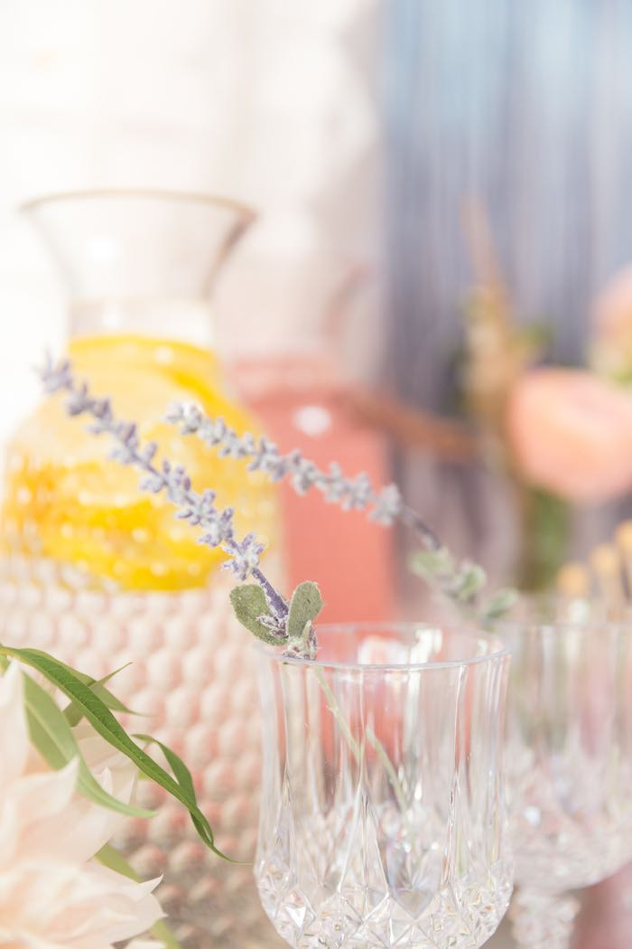 Crystal Goblets with Flowers from a French Parisian Market Birthday Party on Kara's Party Ideas | KarasPartyIdeas.com (7)