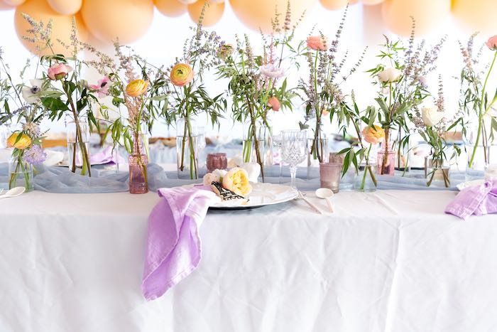 Guest Table from a French Parisian Market Birthday Party on Kara's Party Ideas | KarasPartyIdeas.com (27)