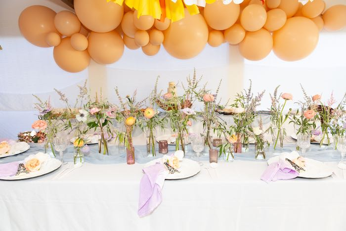 Guest Table from a French Parisian Market Birthday Party on Kara's Party Ideas | KarasPartyIdeas.com (20)