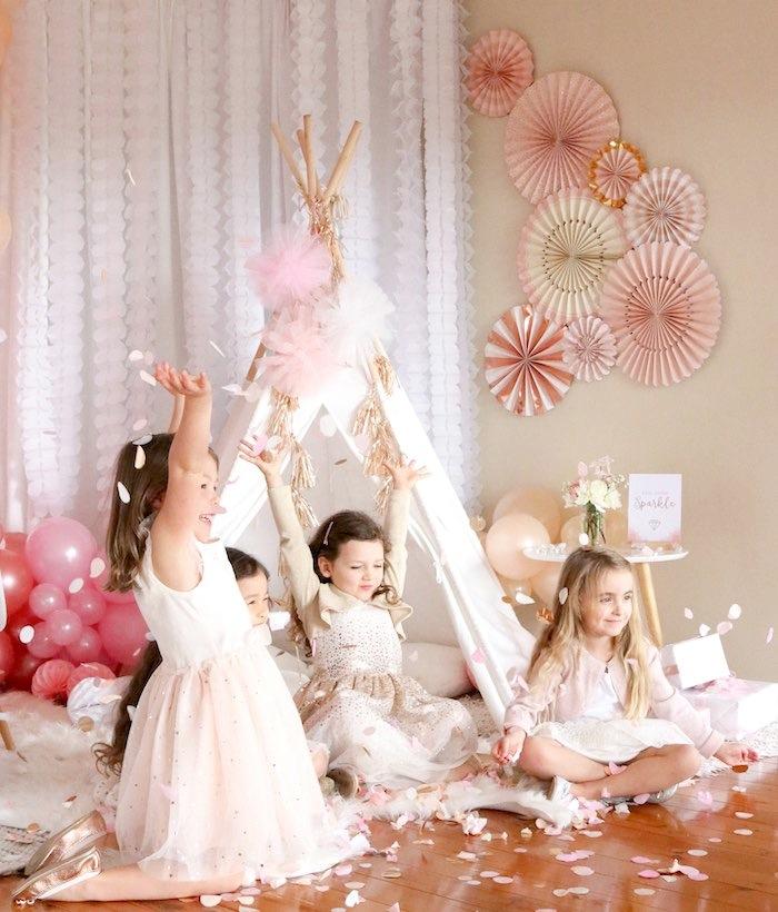 Gem Boho Princess Birthday Party via Kara's Party Ideas