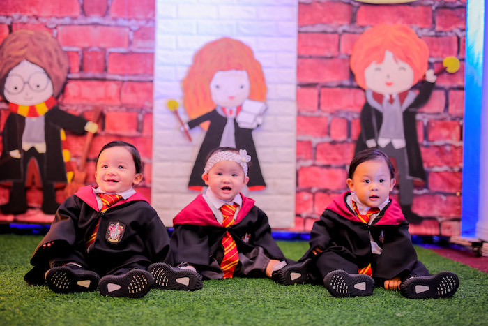 Little Wizards from a Harry Potter Party for Triplets on Kara's Party Ideas | KarasPartyIdeas.com (7)