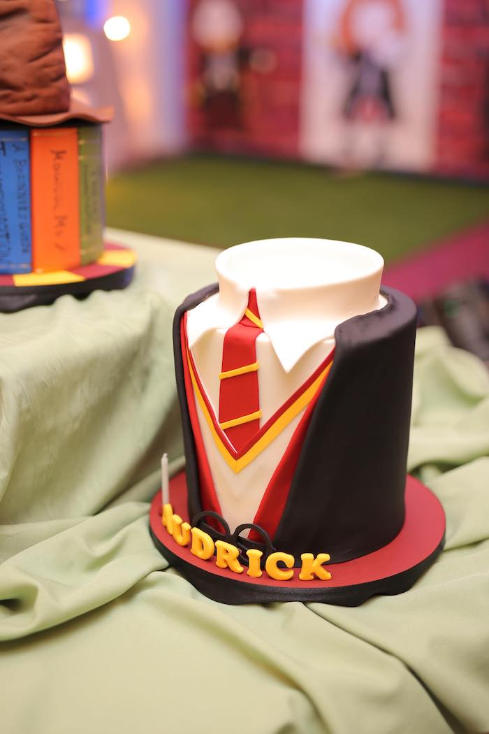 Harry Potter Cake from a Harry Potter Party for Triplets on Kara's Party Ideas | KarasPartyIdeas.com (20)