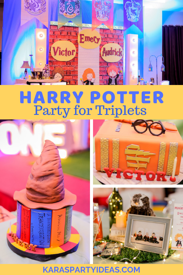 Harry Potter Party for Triplets via Kara's Party Ideas - KarasPartyIdeas.com