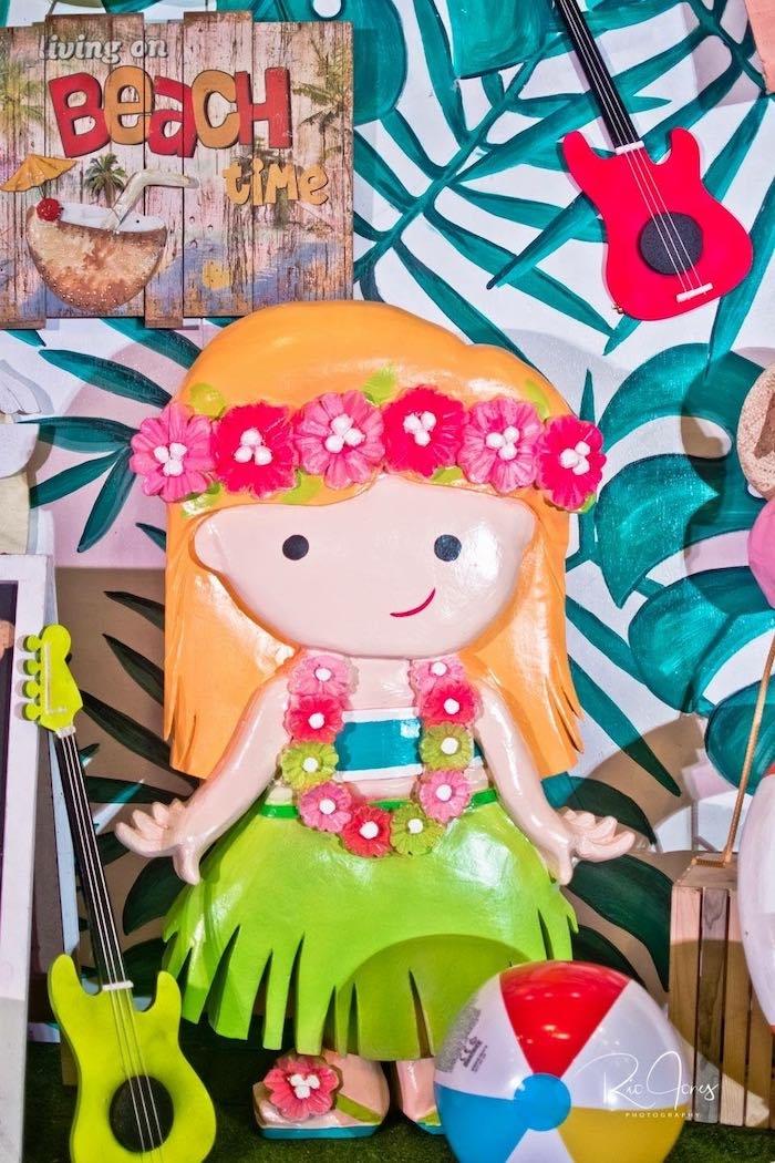 Hula Dancer from a Hawaiian Luau Inspired Birthday Party on Kara's Party Ideas | KarasPartyIdeas.com (11)